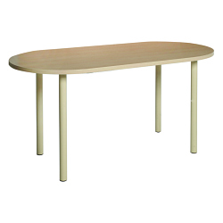 Table ovale FORUM pieds tube