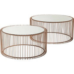 JEU 2 TABLES BASSES WIRE