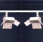 Rail de 2 projecteurs halogene 300 W