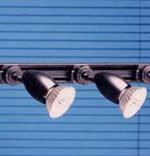 Rail de 2 projecteurs PAR 20 / 75 W