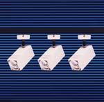 Rail de 3 projecteurs basse tension 50 W