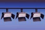 Rail de 3 projecteurs halogene 300 W