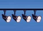Rail de 4 projecteurs PAR 30 / 100 W